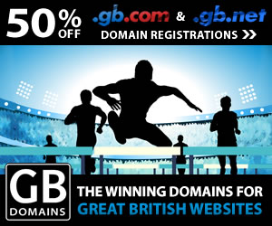 50% off .GB.COM and GB.NET Domains
